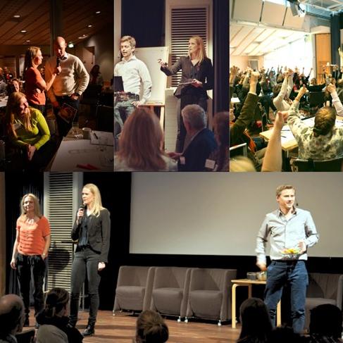 Institutionskonferens på Karolinska Institutet. Aktör Edutainment faciliterar, modererar och spelar teater