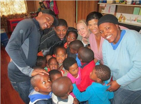 Helen arbetar som volontär på en förskola i Kapstaden